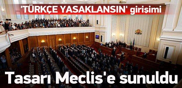 'Türkçe yasaklansın' girişimi