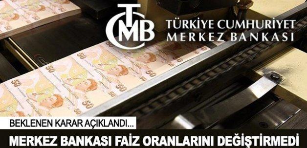 Türkiye Cumhuriyet Merkez Bankası faizi sabit tuttu