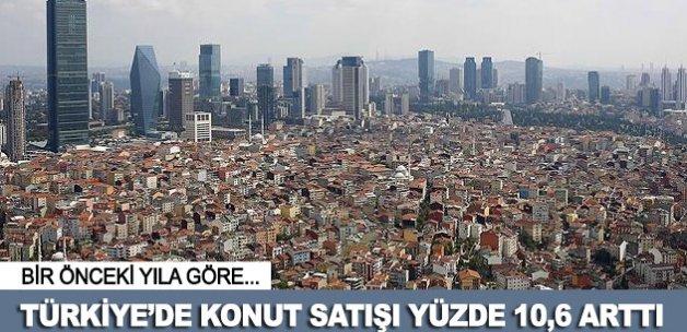 Türkiye'de konut satışı yüzde 10,6 arttı
