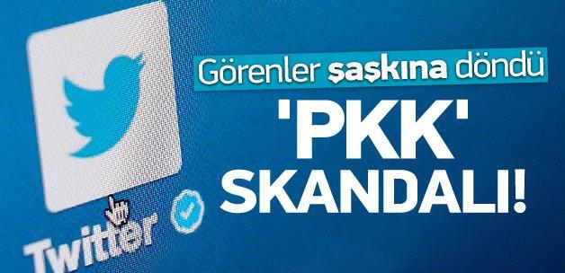 Twitter'da PKK skandalı