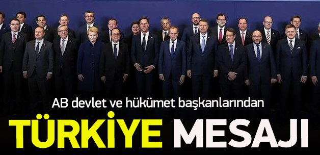 AB başkanlarından ortak Ankara açıklaması