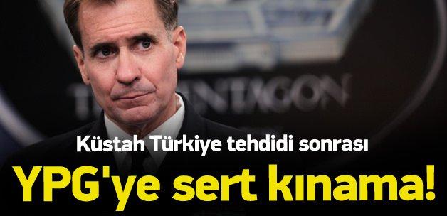 ABD'den YPG'ye sert kınama