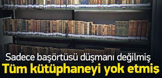 Alemdaroğlu Hukuk'un kütüphanesini de çöpe atmış