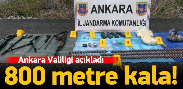 Ankara'da cephanelik ele geçirildi!