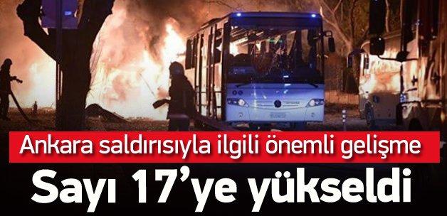 Ankara saldırısıyla ilgili gözaltı sayısı 17 oldu