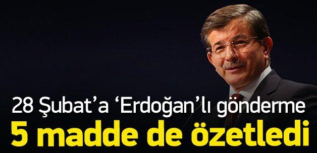 Başbakan Davutoğlu'ndan 28 Şubat tweetleri