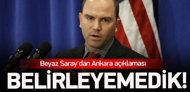 Beyaz Saray'dan flaş Ankara açıklaması