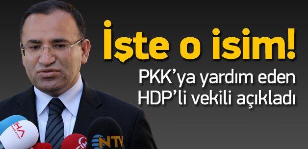 Bozdağ: HDP'li vekil teröriste yardım yapıyor