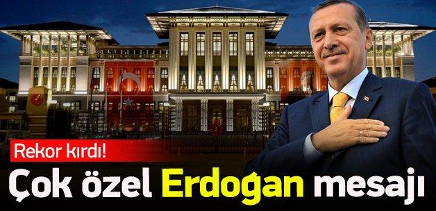 Çok özel Erdoğan tweeti