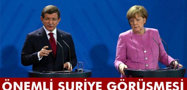 Davutoğlu Merkel ile görüştü