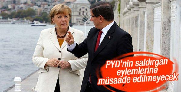 Davutoğlu: PYD'nin eylemlerine izin verilmeyecek