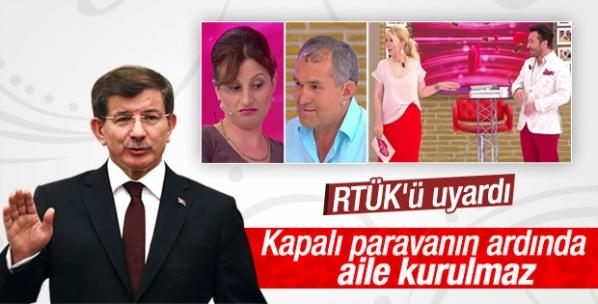 Davutoğlu RTÜK'e izdivaç programları için uyarı
