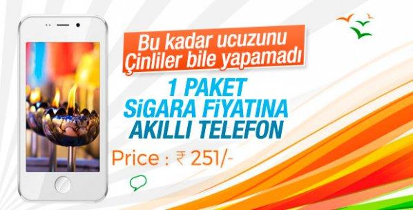 Dünyanın en ucuz akıllı telefonu Hindistan'da üretildi