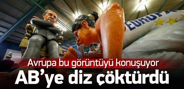 Erdoğan AB'ye diz çöktürdü