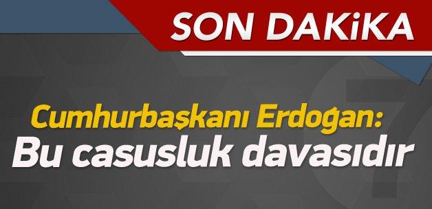Erdoğan açıklamalarda bulunuyor