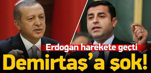 Erdoğan'dan Demirtaş hakkında suç duyurusu
