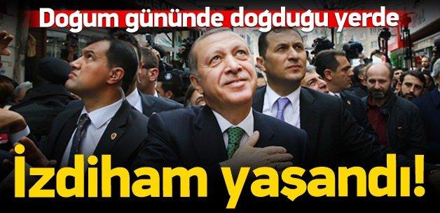 Erdoğan doğum gününde Kasımpaşa'da