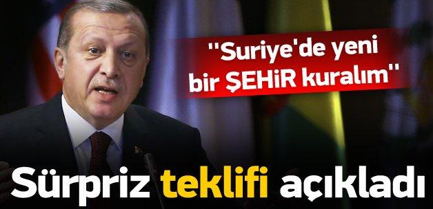 Erdoğan: Suriye topraklarının bir şehir kuralım