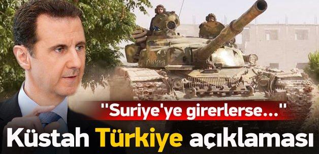 Esed'den küstah 'kara operasyonu' açıklaması