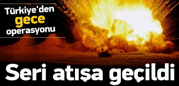Gece yarısı Türkiye seri bombardımana geçti