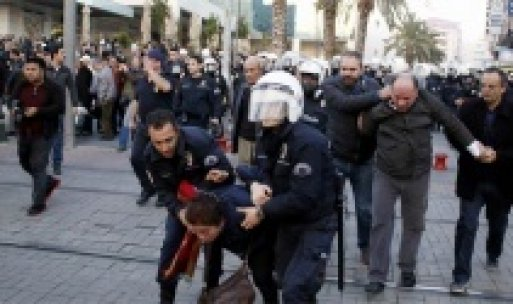 HDP eylemine polis müdahalesi