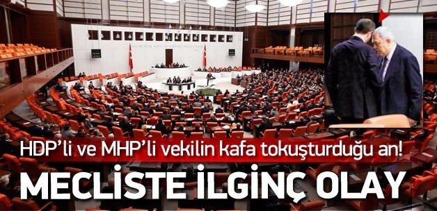 HDP'li ve MHP'li vekilin kafa tokuşturduğu an!