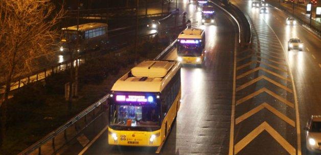 İETT, gece ulaşımı için sefer başlattı