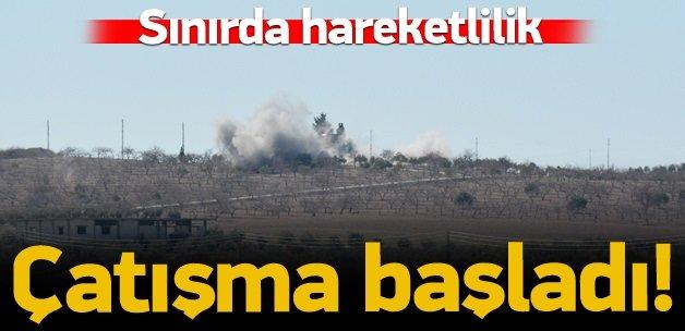 IŞİD ile PYD arasında karşılıklı havan atışları!