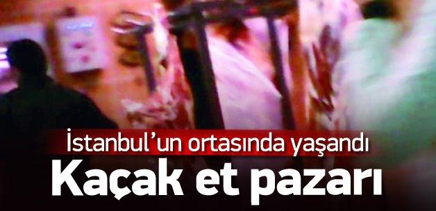 İstanbul'un göbeğinde kaçak et pazarlığı