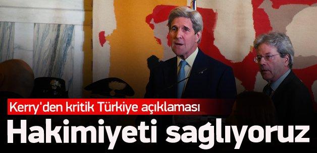 Kerry'den kritik Türkiye açıklaması