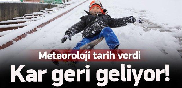 Meteoroloji tarih verdi! Kar geri geliyor