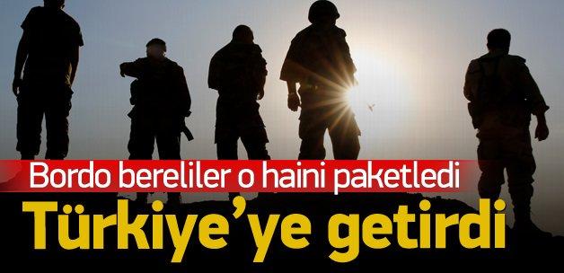 O hain paketlenip Türkiye'ye getirildi!