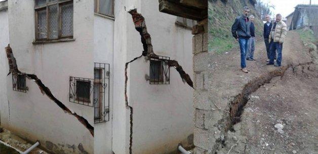 Ordu'da heyelan iki eve zarar verdi