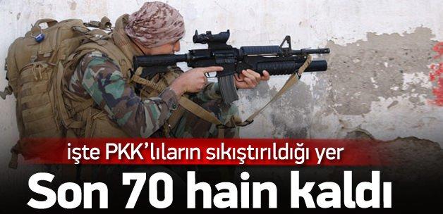 PKK'lı teröristlerin kıstırıldığı yer