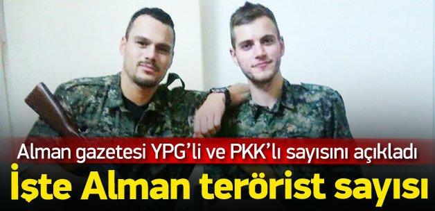 PKK ve YPG'deki terörist Almanların sayısı