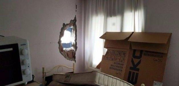 Polise atılmak istenen roket eve isabet etti