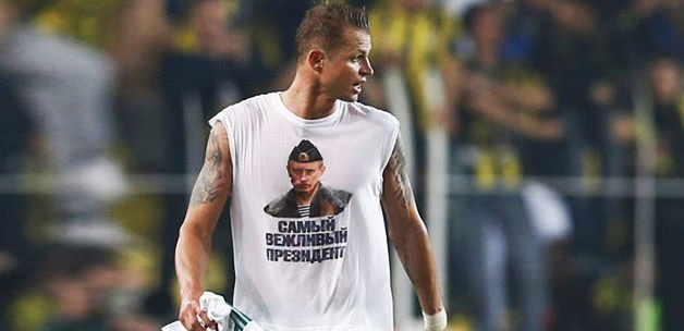 Putin tişörtüne ağır ceza! UEFA'dan açıklama