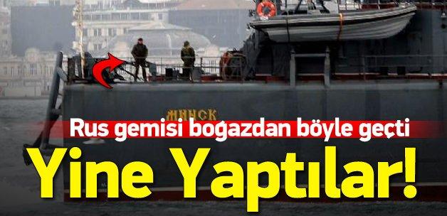 Rus gemisi geçerken asker nöbet tuttu