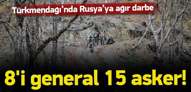 Rus generaller Türkmen Dağı'nda öldürüldü
