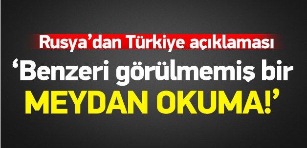 """Rusya'dan Türkiye için """"özür"""" açıklaması"""
