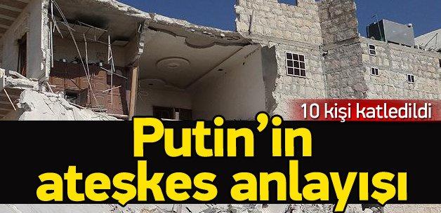 Rusya yine sivilleri vurdu !