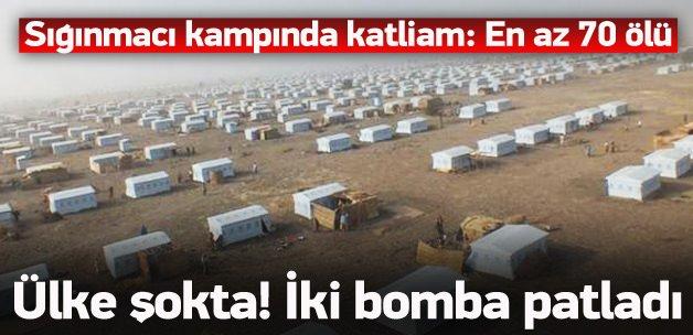Sığınmacı kampında katliam: en az 70 ölü