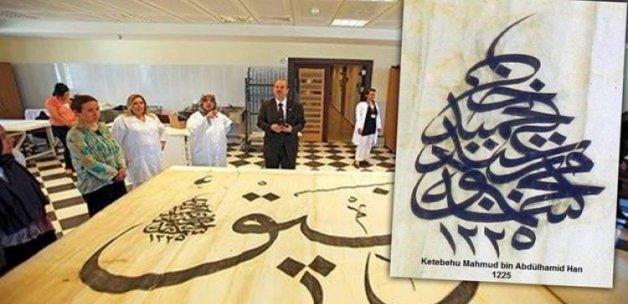 Sultan 2. Mahmud Han'a ait levha bulundu