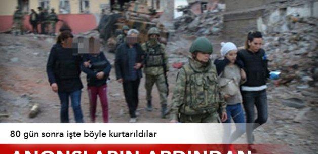 Sur'da 6 vatandaş tahliye edildi