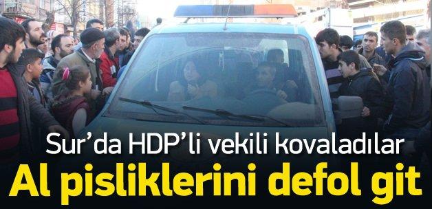 Sur halkından HDP'li vekile büyük tepki