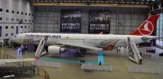 THY'nin 300'üncü uçağı