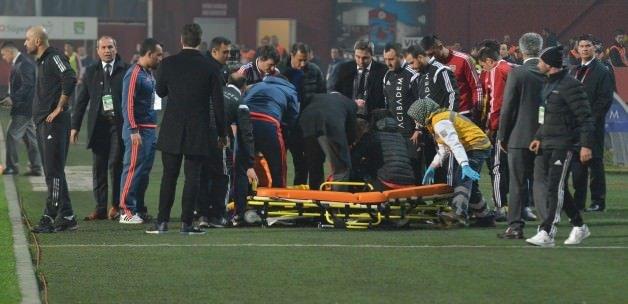 Trabzon-Kayseri maçında talihsiz an