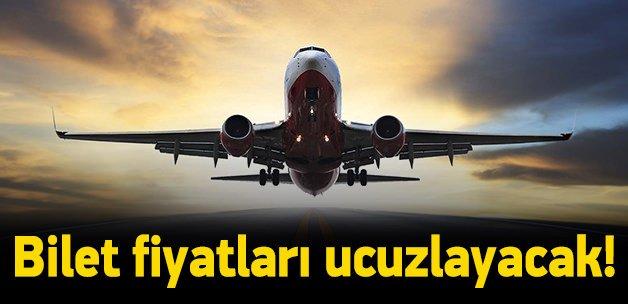 Uçak biletleri çok ucuzlayacak!