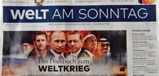 Welt am Sonntag: 'Dünya savaşının senaryosu '