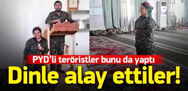 YPG'li teröristler camilerle dalga geçti !